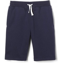french toast fleece navy blue short