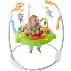 Fisher Price CHM91  Roarin' Rainforest Jumperoo, New Born Baby Activity Centre with Music and Light