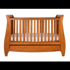 Tutti Bambini Lucas Sleigh 3 in 1 Cot Bed Oak