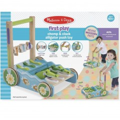 Melissa and Doug first play chomp and clack alligator push toy