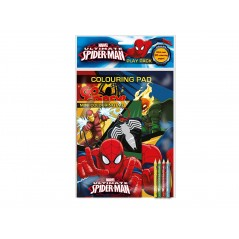 Marvel Ultimate Spiderman Playpack Coloring Pad
