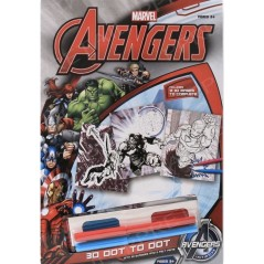 Marvel Avengers 3D Dot To Dot Coloring Kit