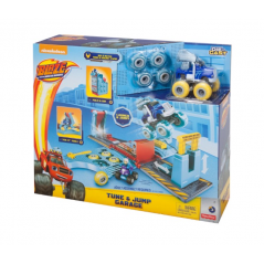 Blaze Monster Machines Axel Tune City And Jump Playset