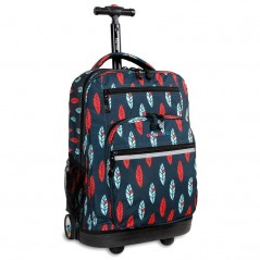 J World Sundance Rolling Backpack leafs