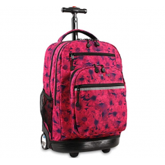 J World Sundance Rolling Backpack Pink