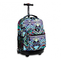 J World Sunrise Rolling Backpack Aztec