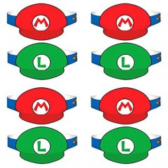 Super Mario 8 Party Hats