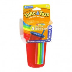 The First Years 4-Pack Take & Toss Straw Cups