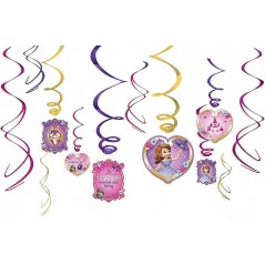 Sofia the First Hanging Swirl Decorations
