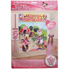 Minnie Mouse Bow-tique Wall Decoration Kit