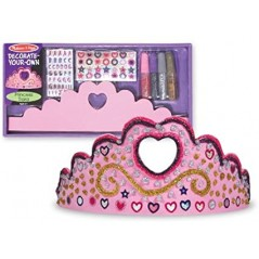 Melissa & Doug Decorate-Your-Own Princess Tiara set