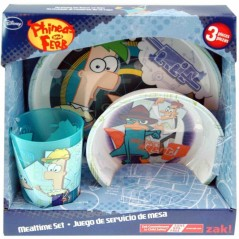 Disney Phineas and Ferb 3-Piece Meal Time Set