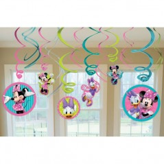 Disney Minnie Mouse Bow-tique Hanging Swirl Decorations