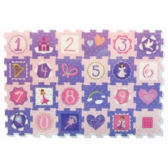 A to Z Fairy Princess Number Puzzle Mat