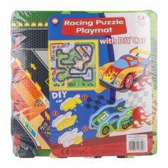 A to Z Racing Playmat Puzzle with DIY Car